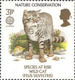 Nature Conservation - Species At Risk 31p Stamp (1986) Wild Cat