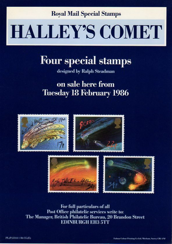Halley S Comet 1986 Collect Gb Stamps