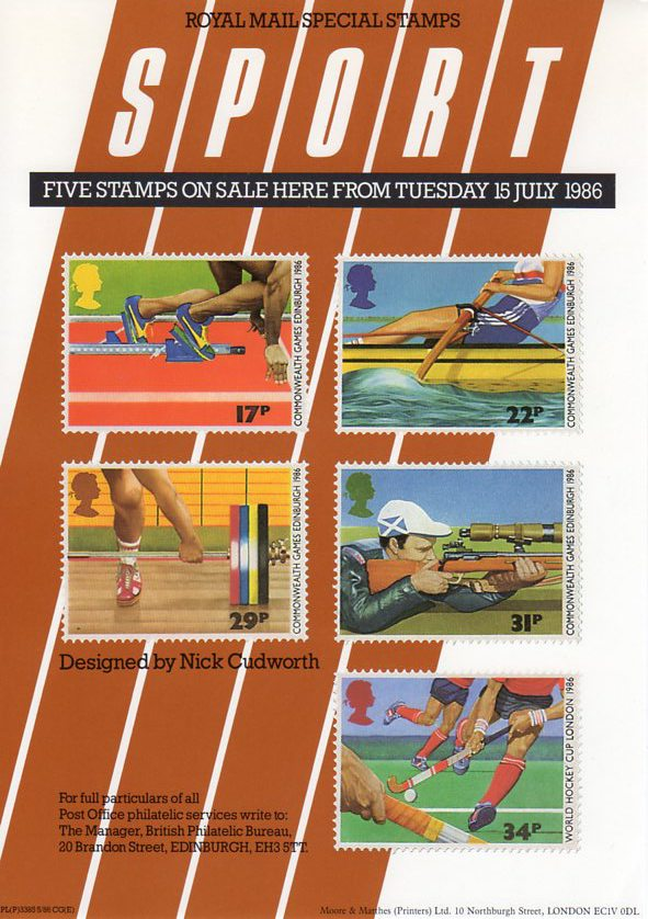 Sport 1986 Collect Gb Stamps