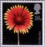 Flowers 18p Stamp (1987) North American Blanket Flower