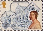 Victorian Britain 18p Stamp (1987) Crystal Palace, 'Monarch of the Glen' (Landseer) and Grace Darling