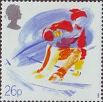 Sport 26p Stamp (1988) Downhill Skiing (Ski Club of Great Britain)