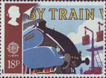 Transport and Communications 18p Stamp (1988) Mallard and Mailbags on Pick-up Arms