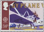 Transport and Communications 34p Stamp (1988) Imperial Airways Handley Page H.P.45 Horatius and Airmail Van