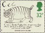 Edward Lear 32p Stamp (1988) 'Cat' (from alphabet book)