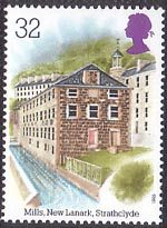 Industrial Archaeology 32p Stamp (1989) Cotton Mills, New Lanark, Strathclyde
