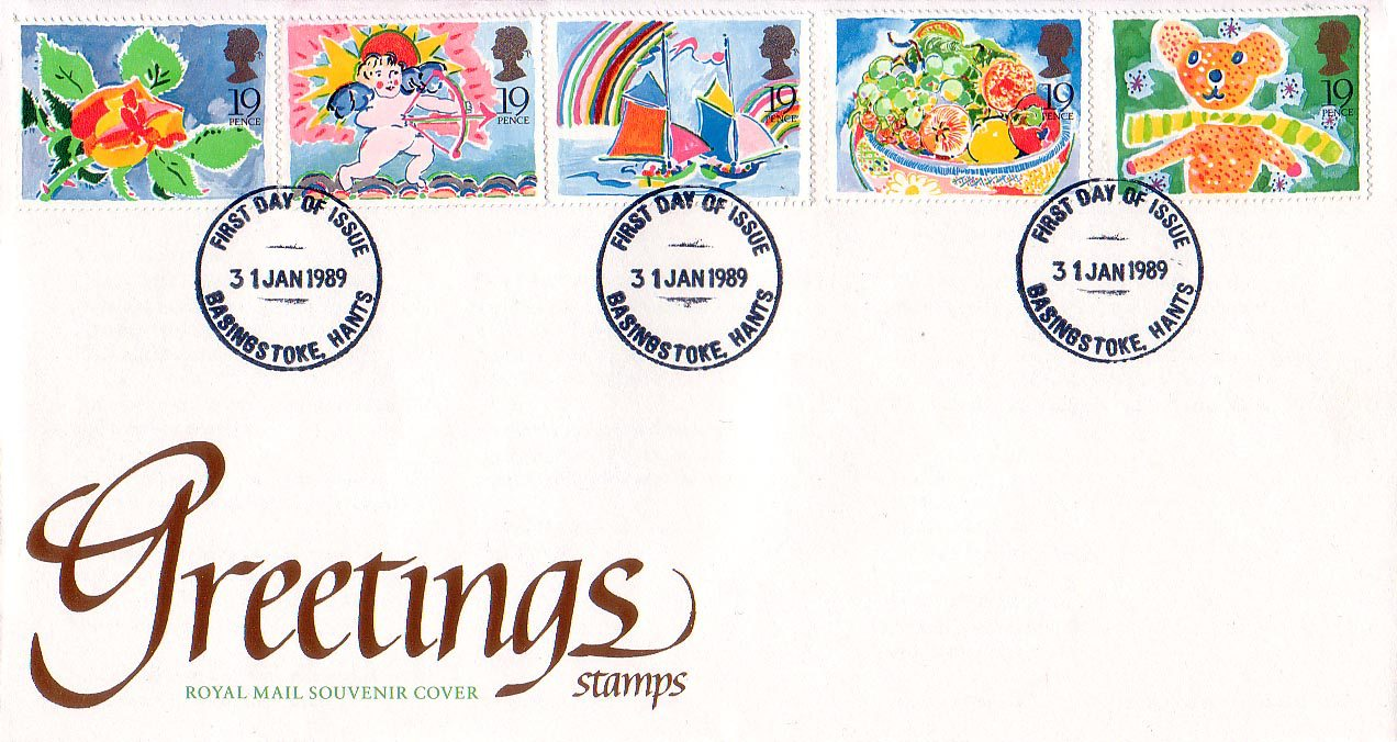 Greetings booklet stamps 1989 collect gb stamps first day cover m4hsunfo
