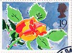 Greetings Booklet Stamps 19p Stamp (1989) Rose
