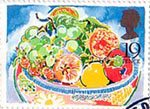 Greetings Booklet Stamps 19p Stamp (1989) Fruit