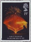 Anniversaries 19p Stamp (1989) Mortar Board (150th Anniversary of Public Education Board)