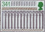 Christmas 1989 35p Stamp (1989) Arcade from West Transept