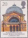 Europa 1990 20p Stamp (1990) Alexandra Palace ('Stamp World Exhibition 90' Exhibtion)