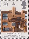 Europa 1990 20p Stamp (1990) Glasgow School of Art