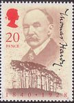 Thomas Hardy 20p Stamp (1990) Thomas Hardy and Clyffe Clump, Dorset
