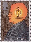 Scientific Achievements 22p Stamp (1991) Michael Faraday (inventor of electric motor) (Birth Bicentenary)