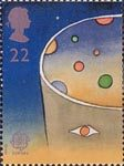 Europe in Space 22p Stamp (1991) Man looking at Space