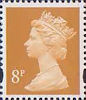 Definitives 8p Stamp (1993) yellow