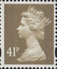 Definitive 41p Stamp (1993) Grey-Brown