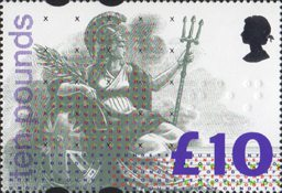 High Value Definitive £10 Stamp (1993) Multicoloured