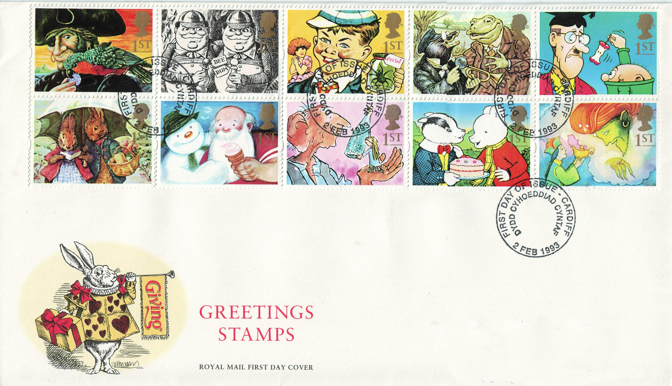 Greetings stamps giving 1993 collect gb stamps first day cover m4hsunfo