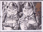 Greetings - Giving 1st Stamp (1993) Tweedledum and Tweedledee (Alice Through the Lokking-Glass)