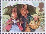 Greetings - Giving 1st Stamp (1993) Peter Rabbit and Mrs Rabbit (The Tale of Peter Rabbit)