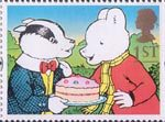 Greetings - Giving 1st Stamp (1993) Bill Badger and Rupert Bear