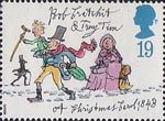 Christmas 1993 19p Stamp (1993) Bob Cratchit and Tiny Tim