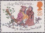 Christmas 1993 25p Stamp (1993) Mr and Mrs Fezziwig