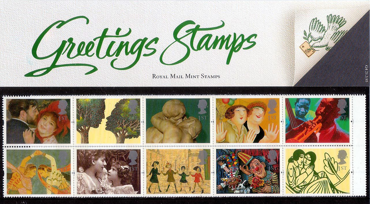 Greetings Stamp Greetings In Arts 1995 Collect Gb Stamps