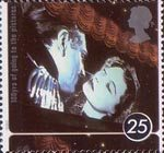 100 Years of Cinema 25p Stamp (1996) Laurence Olivier and Vivien Leigh in Lady Hamilton (film)