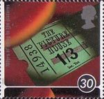 100 Years of Cinema 30p Stamp (1996) Old Cinema Ticket