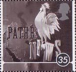 100 Years of Cinema 35p Stamp (1996) Pathe News Still