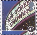 100 Years of Cinema 41p Stamp (1996) Cinema Sign, The Odeon Manchester