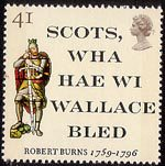 Robert Burns 41p Stamp (1996) 'Scots, wha haw wi Wallace bled' and Sir William Wallace