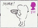 Greetings - Cartoons 1st Stamp (1996) 'MORE! LOVE'(Mel Calman)