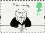 Greetings - Cartoons 1st Stamp (1996) 'Sincerely' (Charles Barsotti)