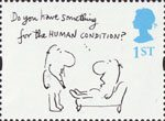 Greetings - Cartoons 1st Stamp (1996) 'Do you have something for the HUMAN CONDITION' (Mel Calman)