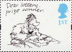 Greetings - Cartoons 1st Stamp (1996) 'Dear lottery prize winner' (Larry)