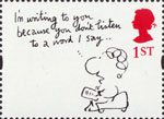 Greetings - Cartoons 1st Stamp (1996) 'I'm writing to you because…' (Mal Calman)