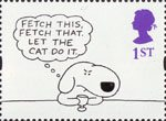 Greetings - Cartoons 1st Stamp (1996) 'FETCH THIS, FETCH THAT' (Charles Barsotti)