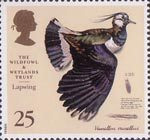 The Wildfowl and Wetlands Trust 1946-1996 25p Stamp (1996) Lapwing