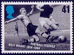 Football Legends 41p Stamp (1996) Billy Wright