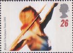 Olympics and Paralympics 1996 26p Stamp (1996) Throwing the Javelin