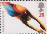 Olympics and Paralympics 1996 26p Stamp (1996) Swimming