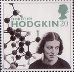 20th Century Women of Achievment 20p Stamp (1996) Prof. Dorothy Hodgkin (scientist)