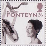 20th Century Women of Achievment 26p Stamp (1996) Dame Margot Fonteyn (ballerina)