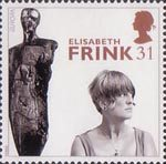 20th Century Women of Achievment 31p Stamp (1996) Dame Elisabeth Frink (sculptress)