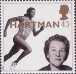 20th Century Women of Achievment 43p Stamp (1996) Dame Marea Hartman (Sports administrator)