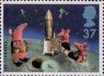 Big Stars from the Small Screen - Children's TV Characters 37p Stamp (1996) The Clangers